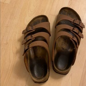 Brown Florida Birkis by Birkenstock, sz 39